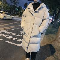 男士棉衣中长款冬季羽绒韩版2018新款过膝加厚面包服外套男潮