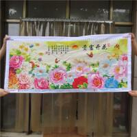 十字绣成品花开富贵牡丹花卉客厅纯手工绣好的现代风景装饰画