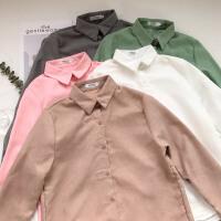 时尚学院风韩版春季新款女装甜美打底衫上衣修身长袖衬衫外套女潮