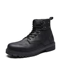 秋季男士马丁靴韩版潮流短靴高帮男靴子英伦风皮靴百搭机车工装靴