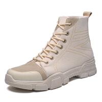 2018新款工装靴男士马丁靴沙漠靴户外休闲男靴短靴子英伦高帮冬季