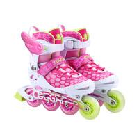男直排轮旱冰鞋女3-6-10岁溜冰鞋儿童全套装可调闪光轮滑鞋