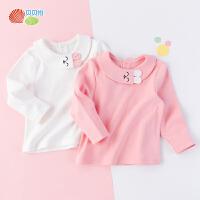 贝贝怡女童长袖卫衣秋季新款甜美洋气宝宝休闲卡通棉上衣193S2159