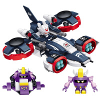 星钻积木 赛尔号战神联盟塑料拼装积木拼插 儿童益智玩具 盖亚VS海盗艾里逊80229