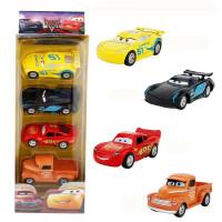 汽车赛车总动员玩具合金车模闪电麦昆儿童玩具滑行车男孩套装 一盒4个小车A款 有回力功能盒装