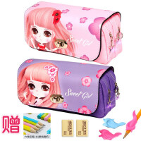 笔袋女简约文具袋韩国简约女生小清新可爱小学生大容量文具袋儿童文具盒铅笔盒