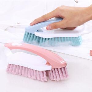 物有物语 清洁刷 多功能可拆卸家用软毛塑料二合一刷鞋洗衣刷(两个装)