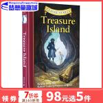 #金银岛 英文原版小说 Classic Starts Treasure Island 路易斯史蒂文森 专门为孩子编的名