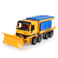 工程车玩具套装模型大号惯性铲雪车挖掘机搅拌男孩儿童玩具汽车