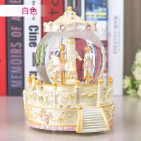 旋转木马音乐盒 八音盒仿水晶球创意礼品浪漫实用礼物送女友老婆生日礼物