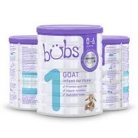 【网易考拉】Bubs 澳洲贝儿 婴儿羊奶粉 1段 800克 3罐装