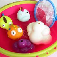 婴儿宝宝洗澡玩具橡皮喷水小黄鸭子男女孩娃娃漂浮戏水件套装