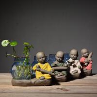 创意家居摆件小花器玻璃花瓶家居装饰品水培花插花瓶陶瓷玻璃水培