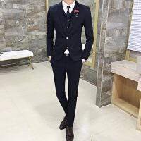 美发师发型师酒吧KTV服务员工作服男士西装西服马甲休闲裤套装