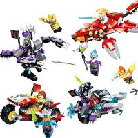 儿童积木封神系列男孩骑士团玄武飞船模型智力拼装玩具3-6岁