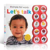 英文原版 Simple First Words Let's Talk 亲子互动认知10种声音辨别低幼儿童启蒙单词汇适合
