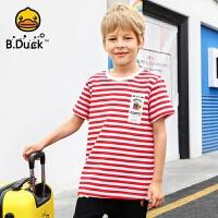 【4折价:91.6】B.duck小黄鸭童装男童短袖T恤夏季新款儿童纯棉潮衣BF2001909