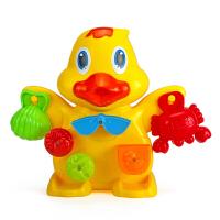 宝宝洗澡玩具小孩子玩水儿童沐浴海豚大黄鸭婴儿浴室戏水手动水车