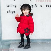 女童冬装加绒加厚棉衣女宝宝中长款棉袄韩版公主儿童保暖羽绒