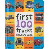 First 100 Trucks?英文原版一百个卡车 儿童读物 纸板书