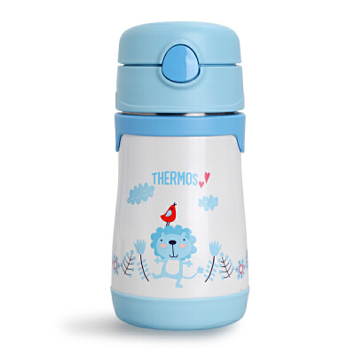 THERMOS膳魔师儿童吸管杯保温杯带吸管不锈钢宝宝喝水杯子便携水杯