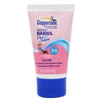 美国Coppertone水宝宝水嫩纯净防晒乳59ml SPF50+ 防晒霜乳喷雾隔离霜紫外线 男女士婴儿童