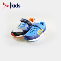 红蜻蜓童鞋男童中大童魔术贴潮流拼接款跑步鞋