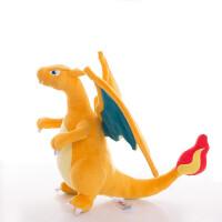宠物小精灵口袋妖怪神奇喷火龙毛绒公仔蓝色黄色 毛绒