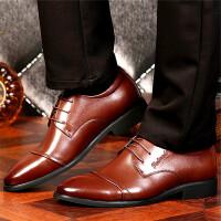 CUM 潮牌男士休闲皮鞋2017秋季新款青年商务正装结婚鞋新款尖头舒适驾车鞋