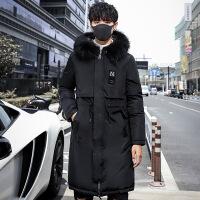 加厚连帽棉衣男士2018秋冬季新款韩版羽绒修身中长款棉袄外套