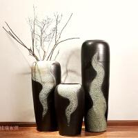 陶瓷器落地花瓶陶罐简约欧式客厅家居软装饰品摆件花艺插花大花瓶