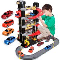 儿童玩具智力赛车轨道车汽车停车场套装男孩2-3-6周岁