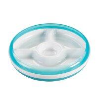 美国OXO Tot 防滑可微波/拆卸四格分隔餐盘餐具 宝宝婴儿辅食训练