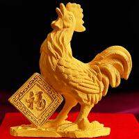 绒沙金鸡摆件工艺品公鸡生肖鸡年礼品吉祥物办公室风水摆件