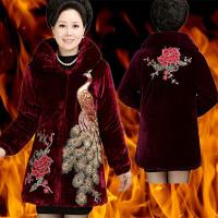 老人加厚棉衣中老年人女装冬装60-70-80岁奶奶装外套丝绒棉袄大码
