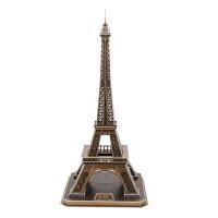 带灯发光3d立体拼图 埃菲尔铁塔 儿童diy拼装模型