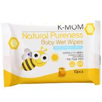 韩国K-MOM 婴幼儿滋润低敏无刺激宝宝天然进手口湿纸巾便携款10抽
