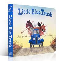 英文原版绘本 Little Blue Truck Board Book 蓝色小卡车 美国儿童图书馆协会读物 阅读学习英