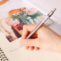 得力自动铅笔0.7mm笔芯小学生写不断铅芯0.5金属笔杆低重心2b一年级学生专用不易断铅带橡皮头活动铅笔