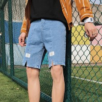 夏季新款牛仔短裤男韩版潮流五分裤宽松休闲中裤夏天薄款5分裤子