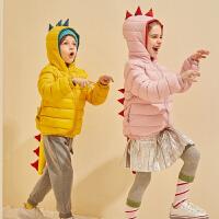 【冬清仓价:155】巴拉巴拉旗下巴帝巴帝2019秋冬新款休闲趣味小恐龙羽绒服