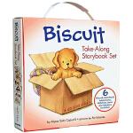 英文原版绘本 小饼干狗 Biscuit Take-Along 6册故事图画书 3 6岁 礼盒装贴纸与配对游戏
