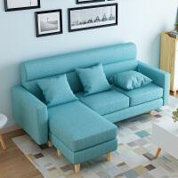 亿家达北欧布艺沙发现代简约三人沙发客厅整装小户型简易沙发组合