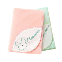 婴儿隔尿垫透气大号麻棉尿垫2条装 可洗尿布春秋季