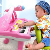 儿童电子琴麦克风玩具钢琴可充电早教1女孩音乐1-3岁
