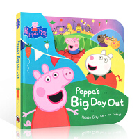 粉红猪小妹 小猪佩奇大开本异形纸板书 英文原版 Peppa Pig Peppa's Big Day Out 3-6岁