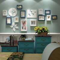 北欧实木照片墙欧式相框墙创意组合客厅挂墙现代简约相片墙