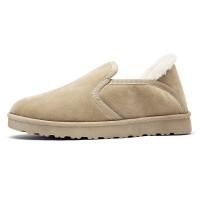 男鞋冬季加绒加厚保暖棉鞋懒人豆豆鞋冬款韩版面包潮港风