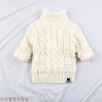 冬季儿童毛衣男童套头女童长袖针织衫高领打底衫线衣加绒加厚2-3-4岁秋冬新款