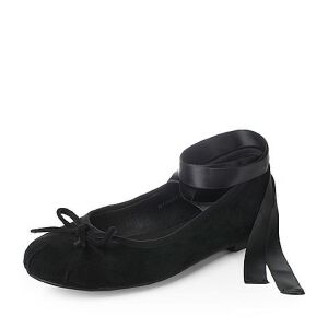 Teenmix/天美意2017秋羊绒皮优雅小方跟甜美绑带芭蕾舞单鞋女鞋16105CQ7